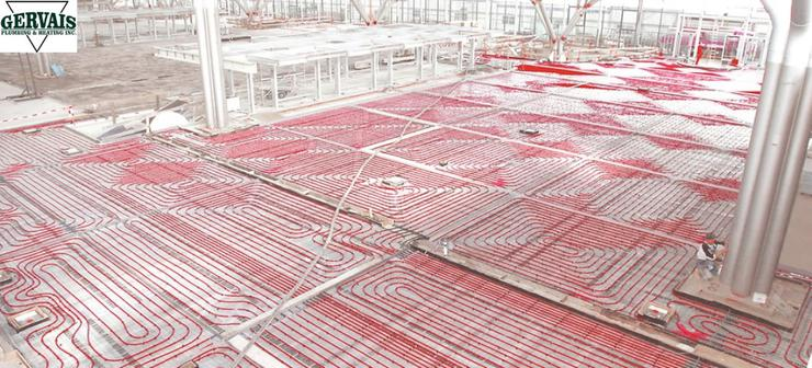 Large Commercial/Industrial Radiant Heating System Installation in Massachusetts.