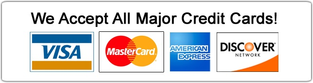 All Major Credit Cars Accepted